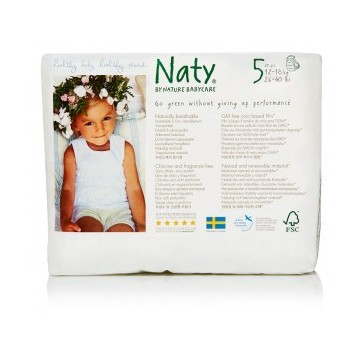 Eco Couches Pants Naty – Taille 5 Junior 12-18 kg, 20 pcs