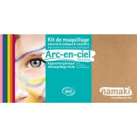 Kit maquillage 8 couleurs arc-en-ciel bio - Namaki