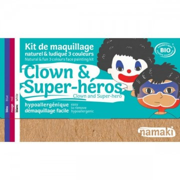 Kit de Maquillage 3 couleurs clown & super-héros BIO - Namaki