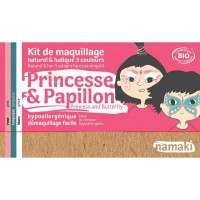 Kit Maquillage 3 couleurs princesse & papillon BIO - Namaki
