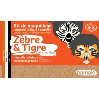 Kit Maquillage 3 couleurs zèbre & tigre BIO - Namaki