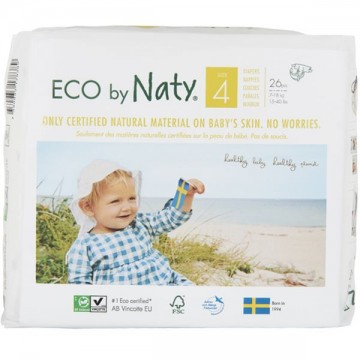 Eco Couches Naty – Taille 4 Maxi 7-16 kg, 26 pcs